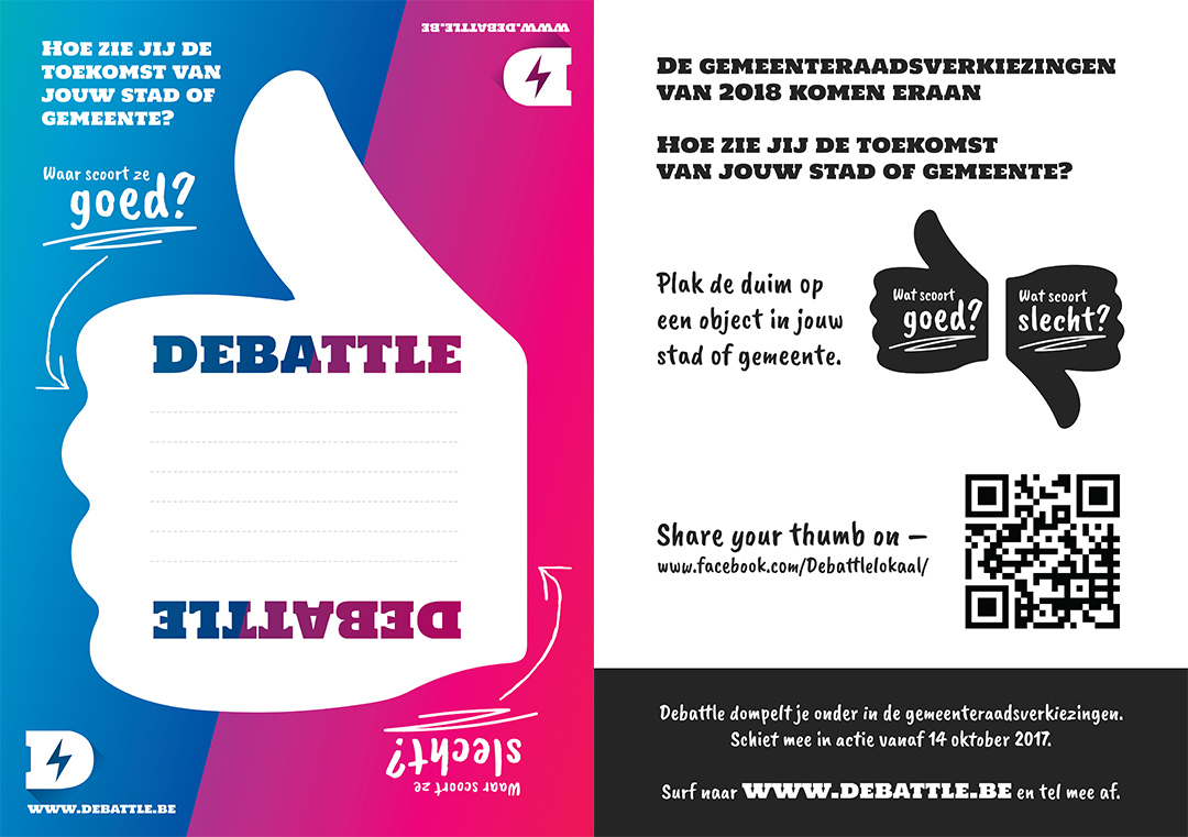 Debattle - Sticker A6 writable v02